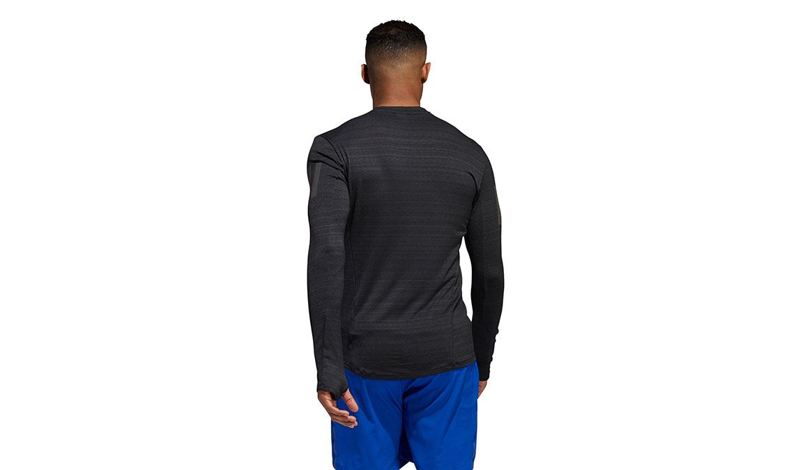 Men's Adidas Rise Up N Run Long Sleeve  - Color: Black Size: S, Black, large, image 4