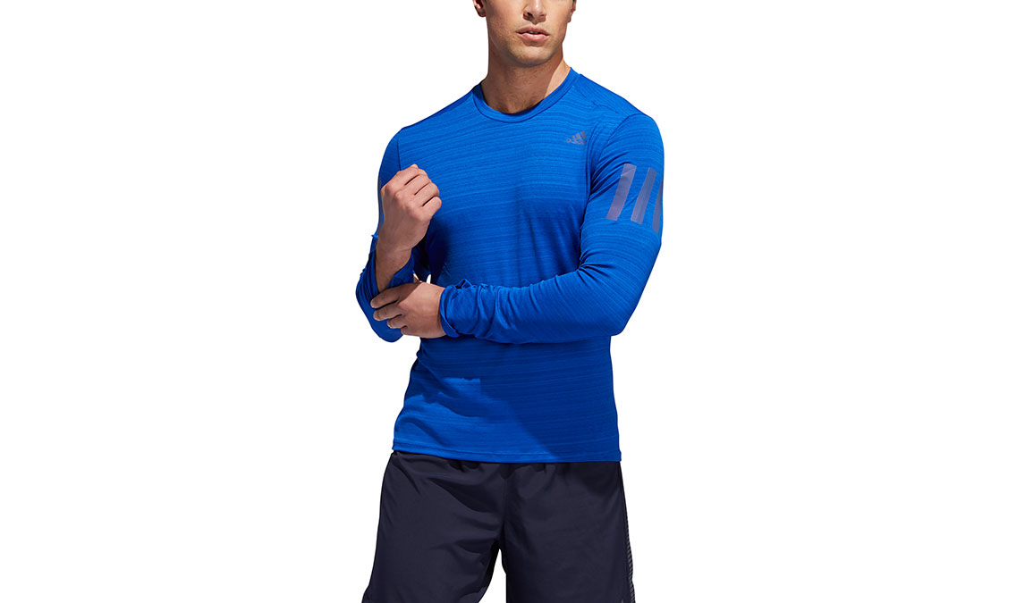 Men's Adidas Rise Up N Run Long Sleeve  - Color: Collegiate Royal Size: S, Royal Blue, large, image 1