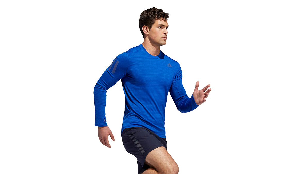 Men's Adidas Rise Up N Run Long Sleeve  - Color: Collegiate Royal Size: S, Royal Blue, large, image 3