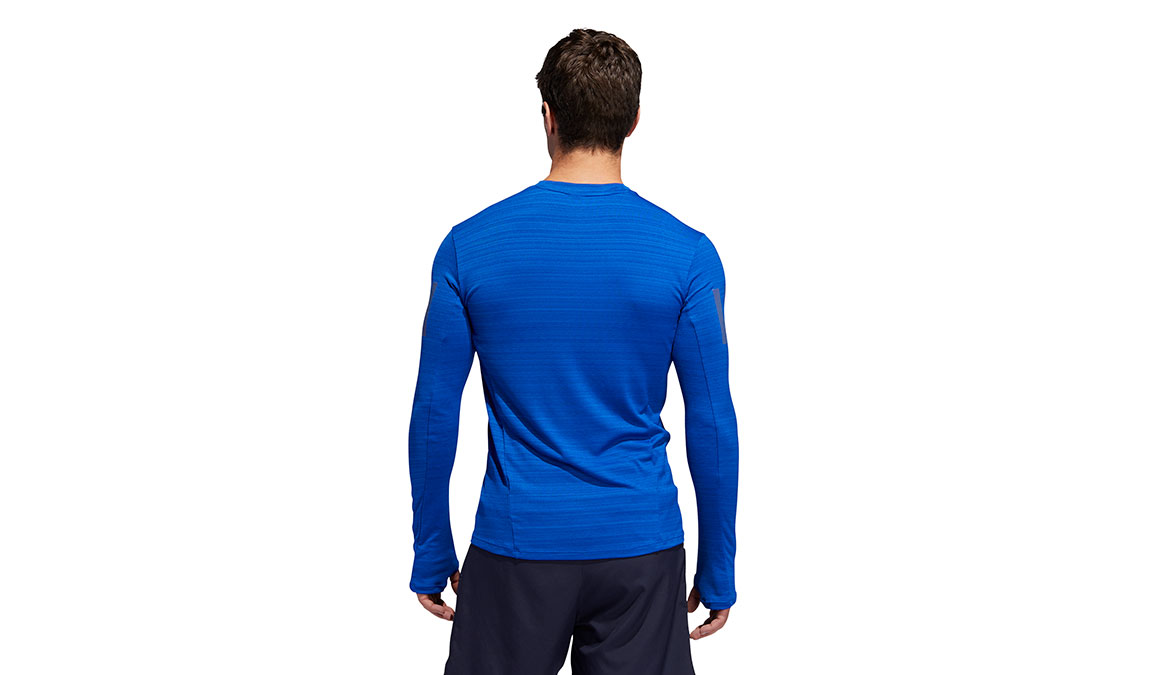 Men's Adidas Rise Up N Run Long Sleeve  - Color: Collegiate Royal Size: S, Royal Blue, large, image 4