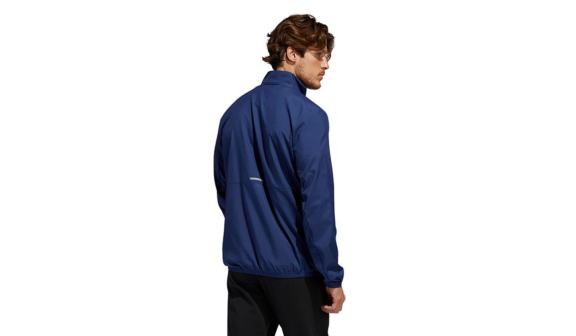 Men's Adidas Run It 3-Stripes Anorak - Color: Tech Indigo Size: S, Indigo, large, image 2