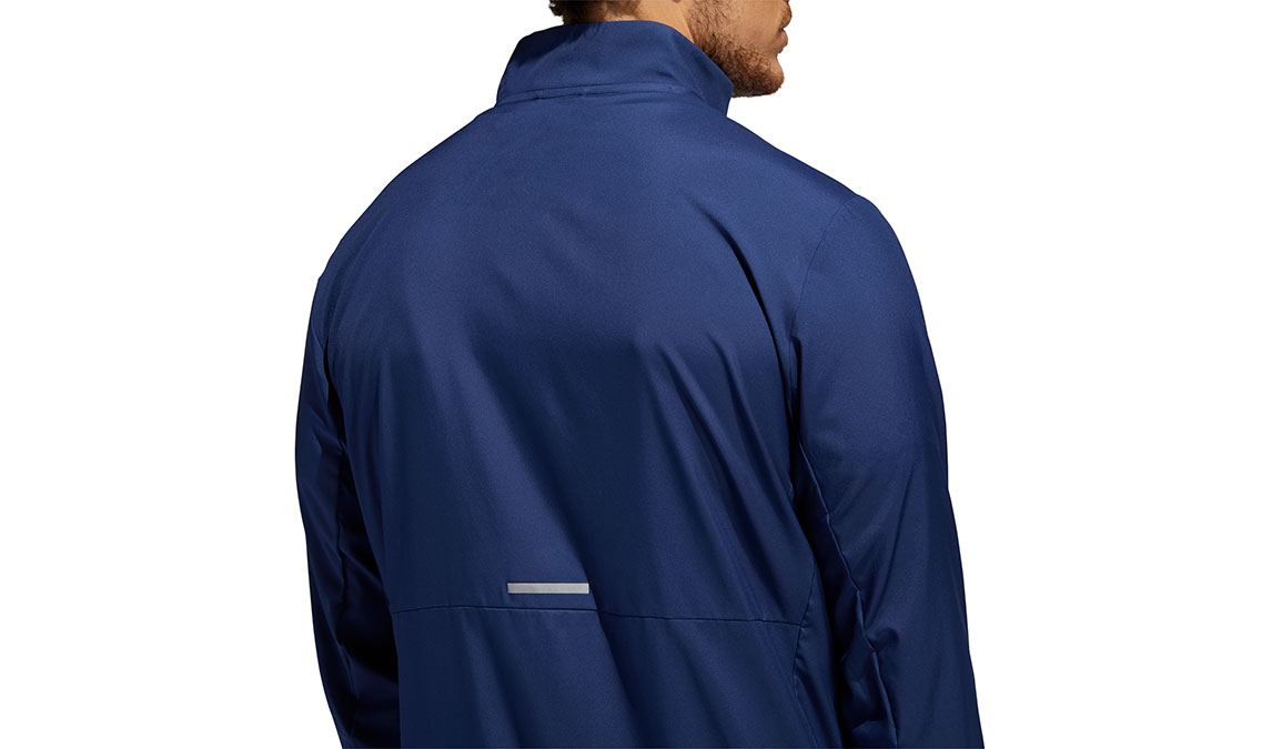 Men's Adidas Run It 3-Stripes Anorak - Color: Tech Indigo Size: S, Indigo, large, image 3