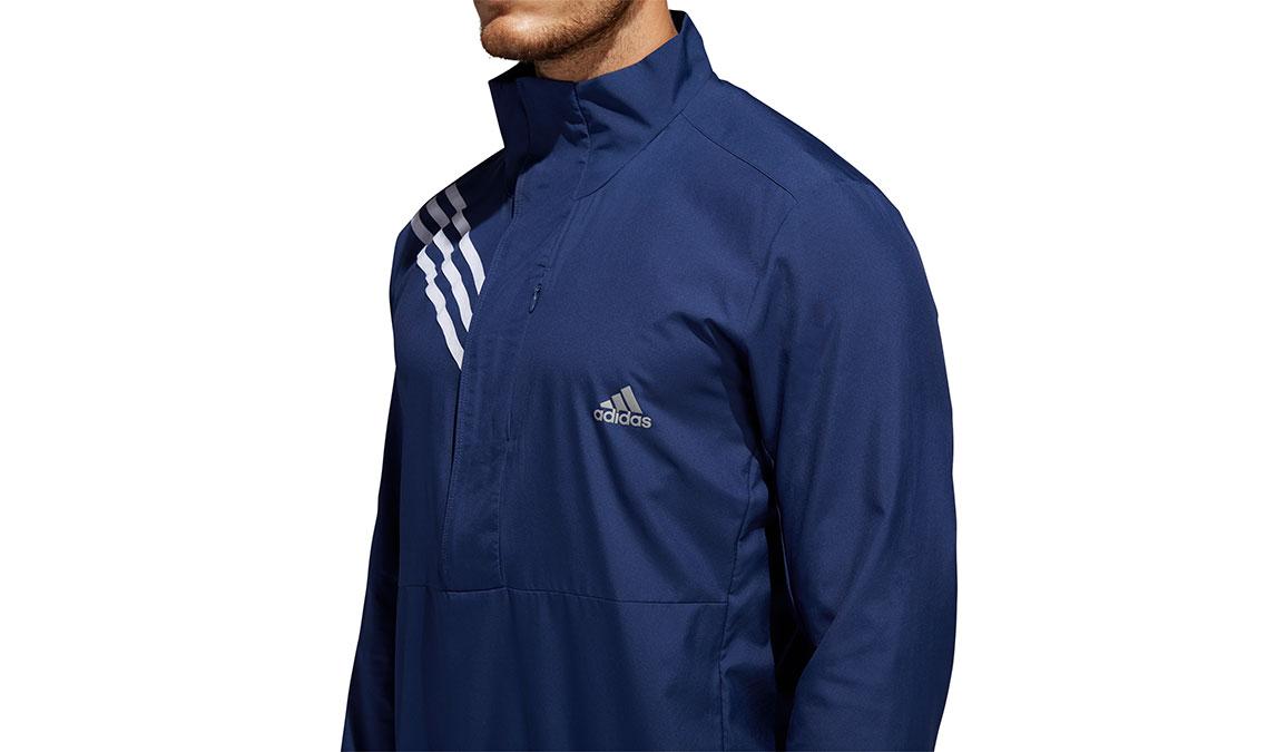 Men's Adidas Run It 3-Stripes Anorak - Color: Tech Indigo Size: S, Indigo, large, image 4