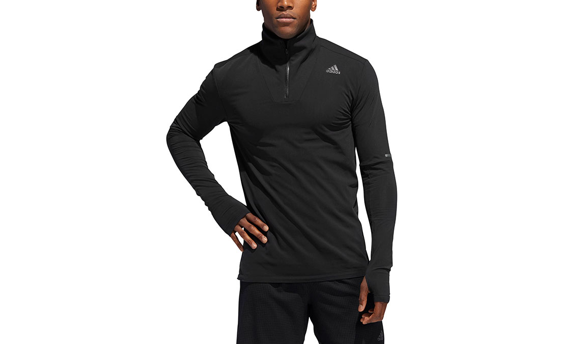 Men's Adidas Runner 1/2 Zip - Color: Black Size: XXL, Black, large, image 1