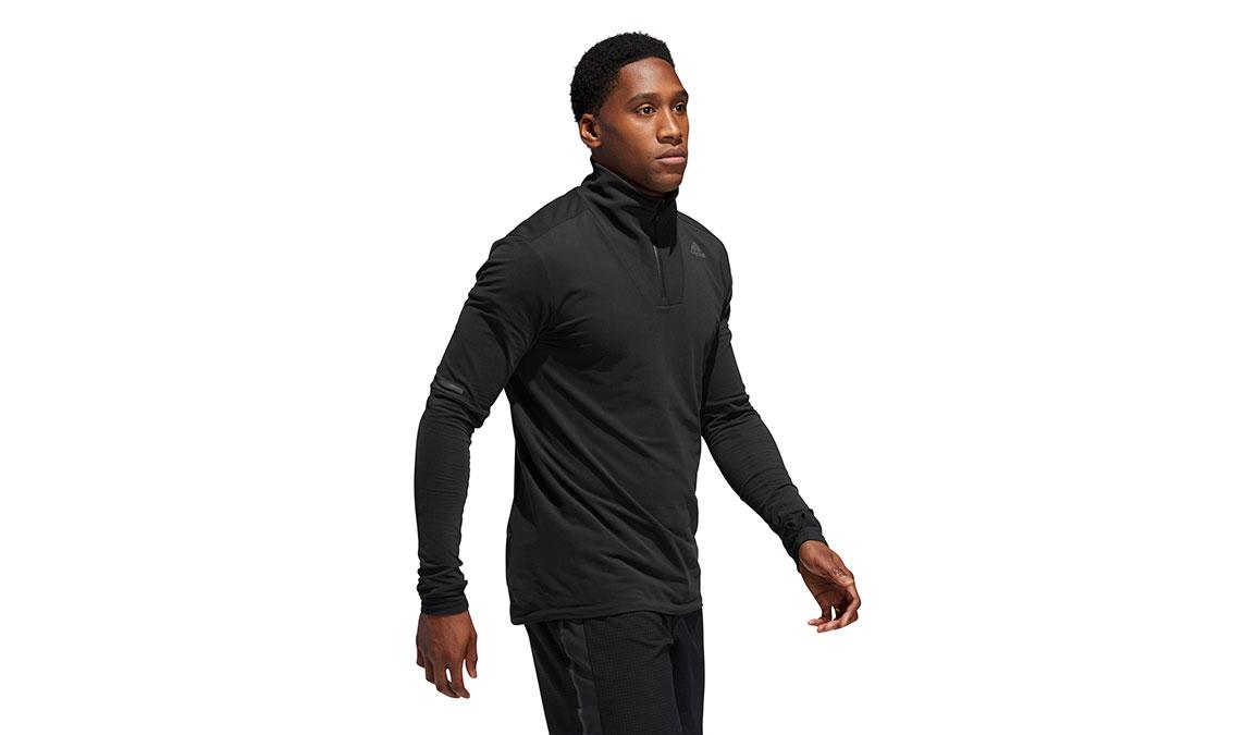 Men's Adidas Runner 1/2 Zip - Color: Black Size: XXL, Black, large, image 2
