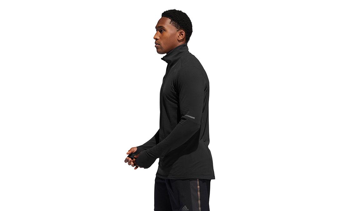 Men's Adidas Runner 1/2 Zip - Color: Black Size: XXL, Black, large, image 3