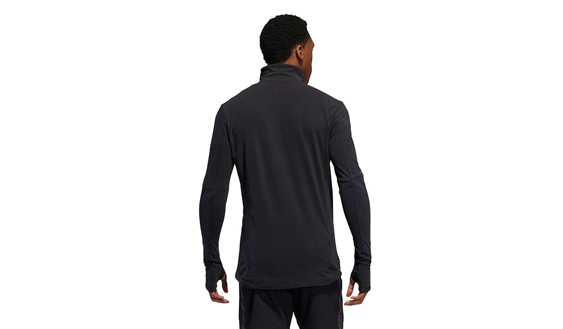 Men's Adidas Runner 1/2 Zip - Color: Black Size: XXL, Black, large, image 4