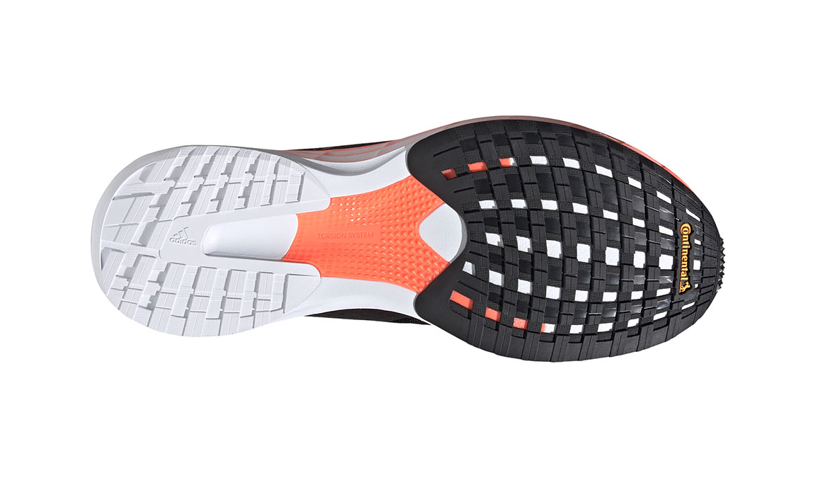 Men's Adidas SL20 Running Shoe - Color: Core Black/Cloud White/Signal Coral (Regular Width) - Size: 6.5, Black, large, image 3