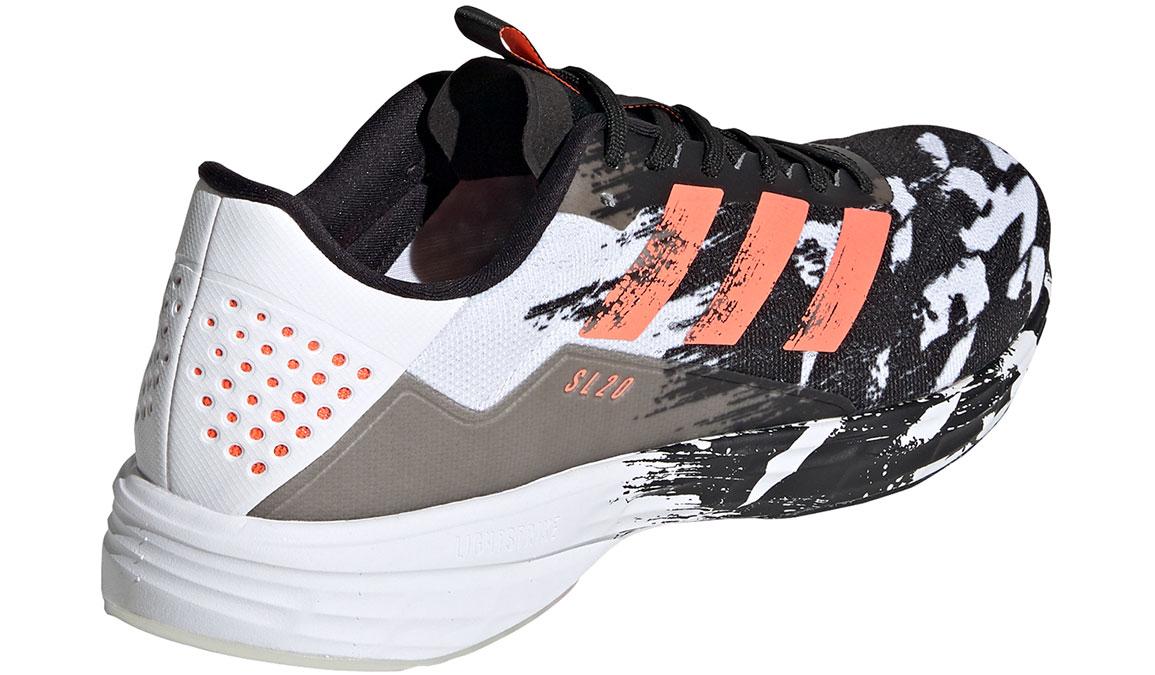 Men's Adidas SL20 Running Shoe - Color: Core Black/Signal Coral/Cloud White (Regular Width) - Size: 6.5, Black/White, large, image 5