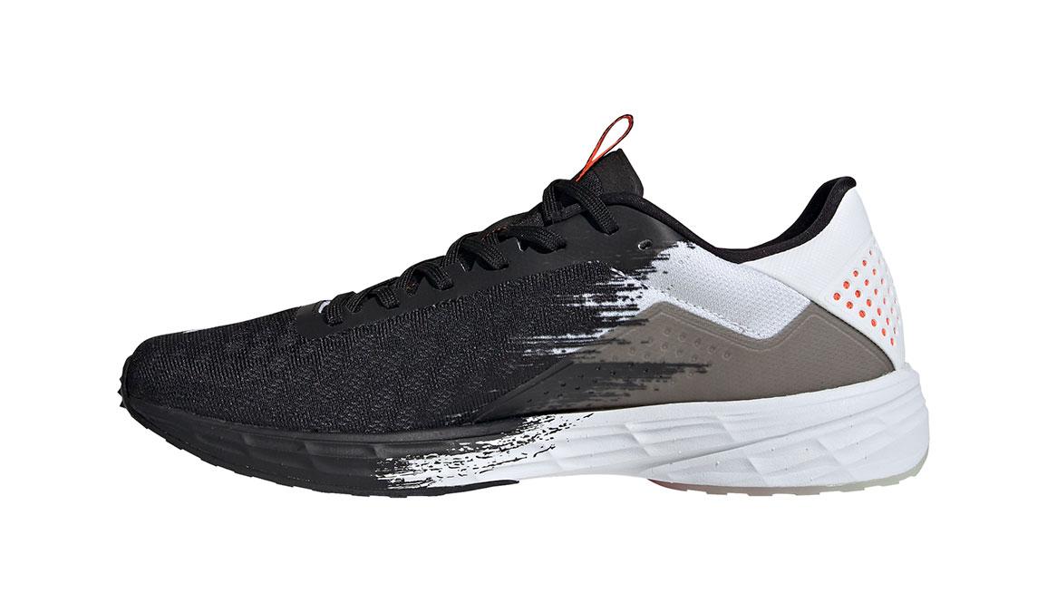 Men's Adidas SL20 Running Shoe - Color: Core Black/Signal Coral/Cloud White (Regular Width) - Size: 6.5, Black/White, large, image 6