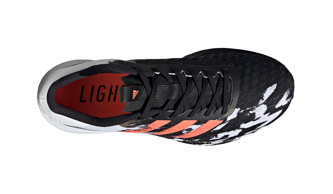 Men's Adidas SL20 Running Shoe - Color: Core Black/Signal Coral/Cloud White (Regular Width) - Size: 6.5, Black/White, large, image 2