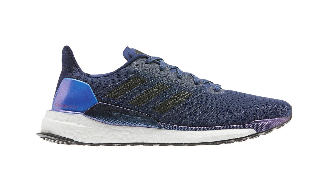 Men's Adidas Solar Boost 19 Running Shoe - Color: Tech Indigo/Dash Grey/Solar Red (Regular Width) - Size: 8, Blue/Grey, large, image 1