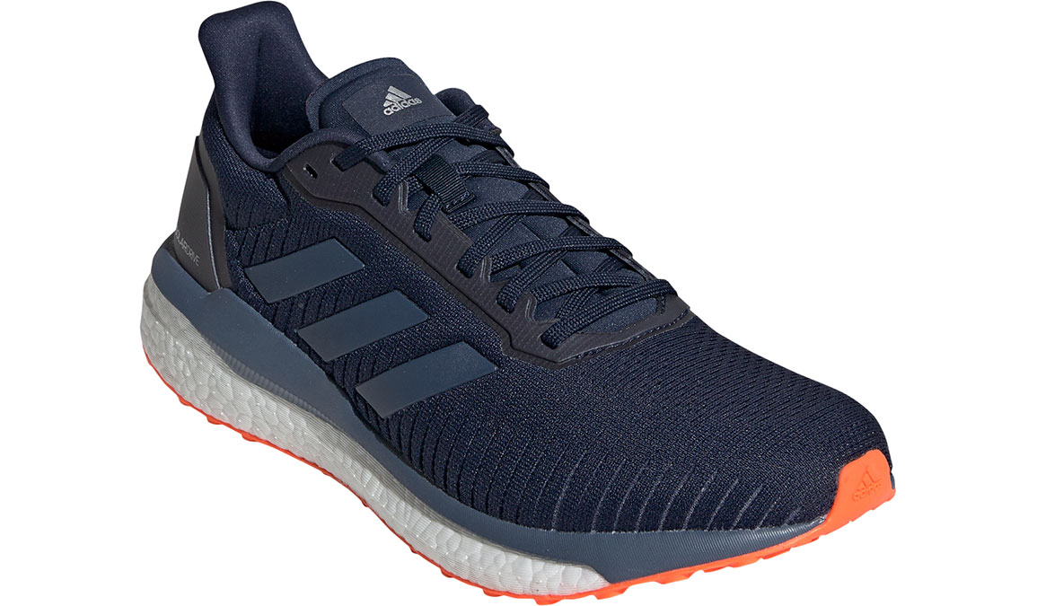 Men's Adidas Solar Drive 19 Running Shoe - Color: Collegiate Navy/Solar Orange (Regular Width) - Size: 10, Collegiate Navy/Solar Orange, large, image 3
