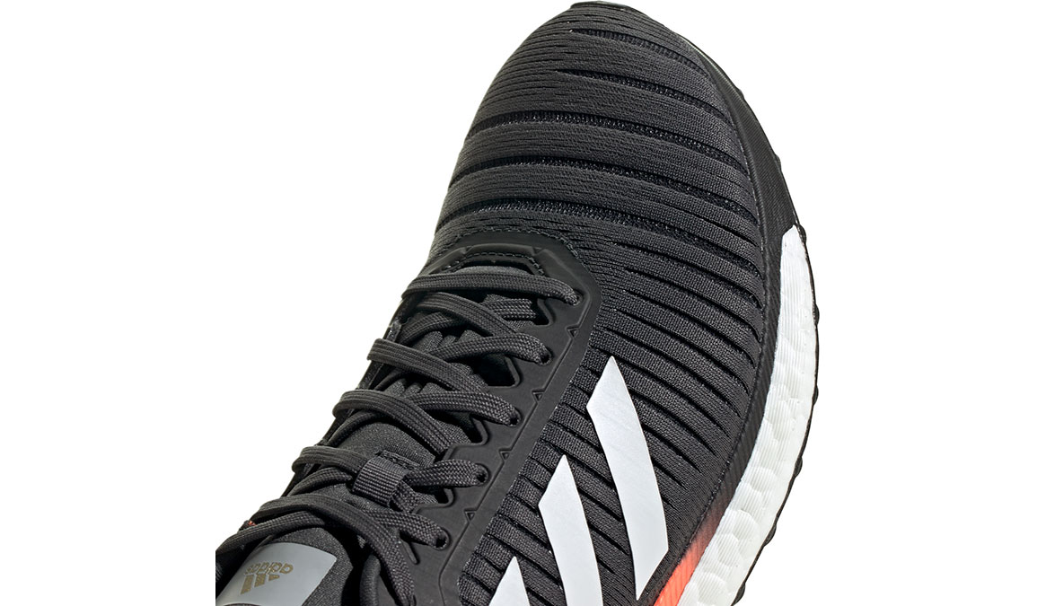 Men's Adidas SolarGlide 19 Running Shoe - Color: Grey/Signal Coral (Regular Width) - Size: 7, Grey/Signal Coral, large, image 4