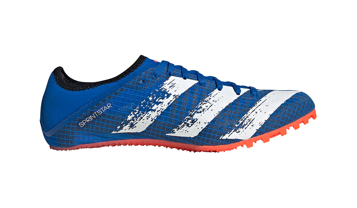 Men's Adidas Sprintstar Track Spike - Color: Glory Blue/Core White (Regular Width) - Size: 8, Blue/White, large, image 1