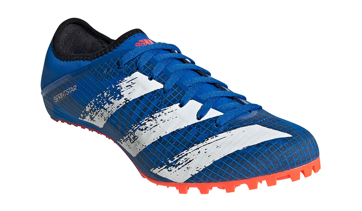 Men's Adidas Sprintstar Track Spike - Color: Glory Blue/Core White (Regular Width) - Size: 8, Blue/White, large, image 3