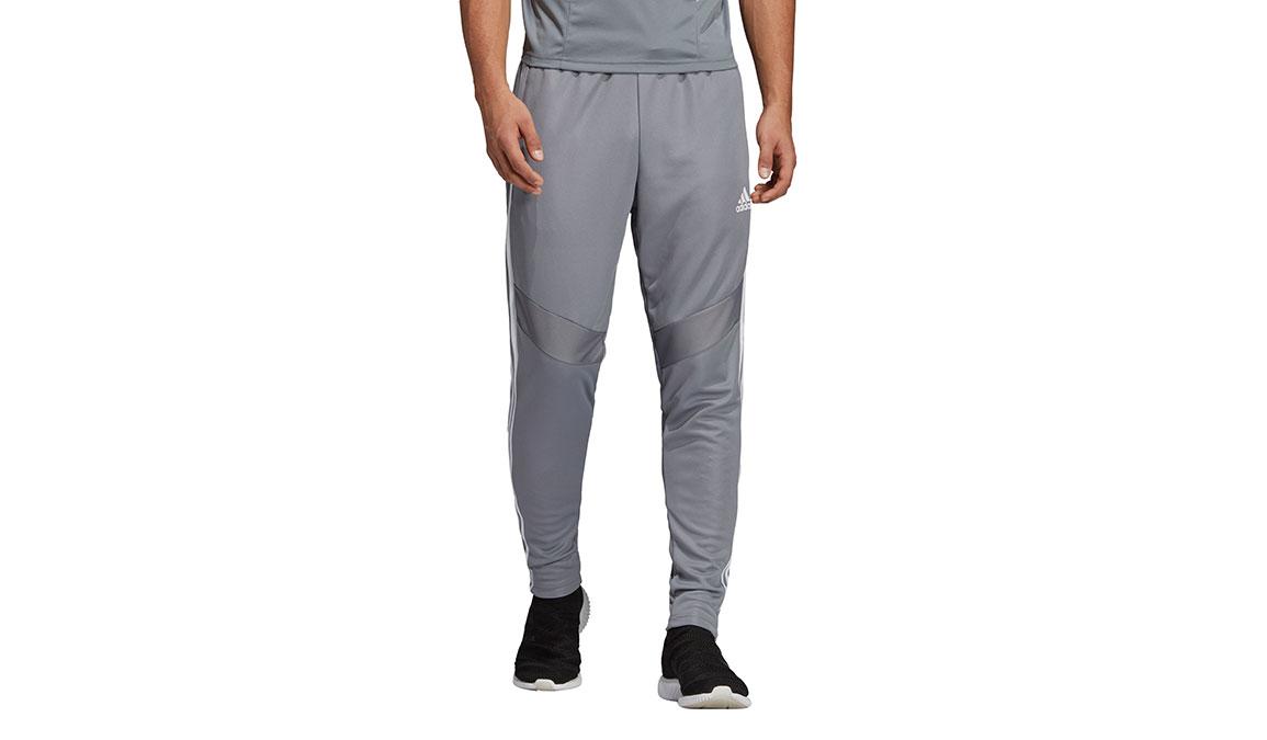 Men's Adidas Tiro19 Training Pants - Color: Grey/White Size: XS, Grey/White, large, image 1