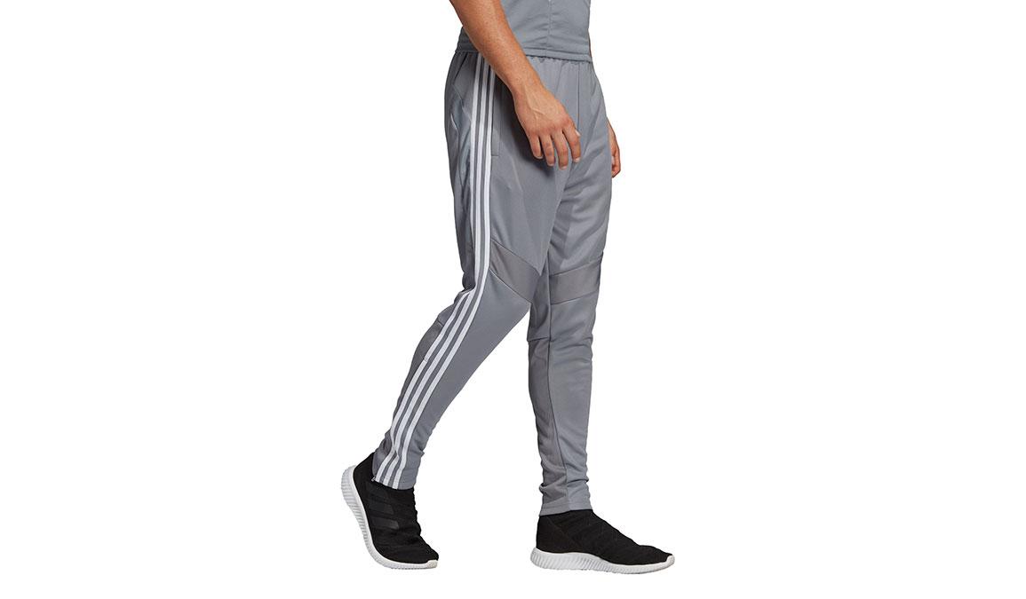 Men's Adidas Tiro19 Training Pants - Color: Grey/White Size: XS, Grey/White, large, image 2