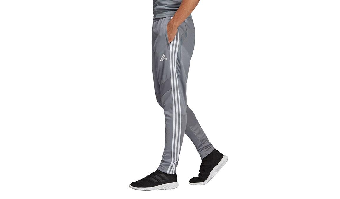 Men's Adidas Tiro19 Training Pants - Color: Grey/White Size: XS, Grey/White, large, image 3