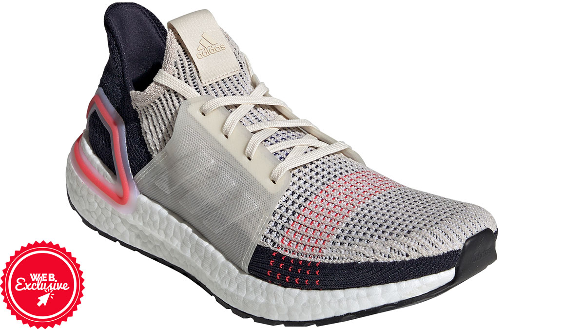 Men's Adidas UltraBOOST 19 Running Shoe - Color: Clear Brown/Chalk White (Regular Width) - Size: 9, Brown/White, large, image 3