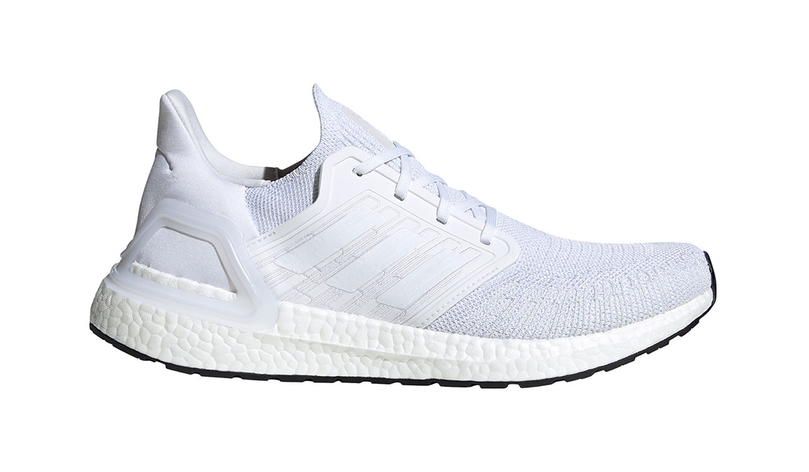 Men's Adidas UltraBOOST 20 Running Shoe - Color: White/White (Regular Width) - Size: 4, White/White, large, image 1