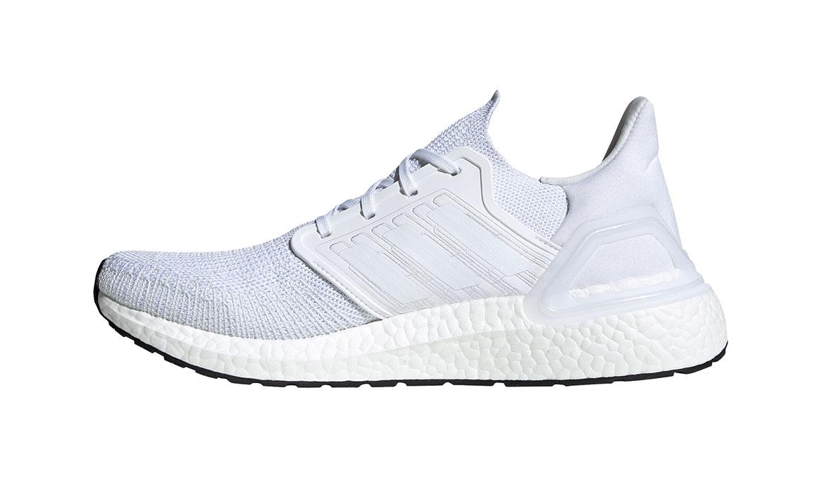 Men's Adidas UltraBOOST 20 Running Shoe - Color: White/White (Regular Width) - Size: 4, White/White, large, image 2