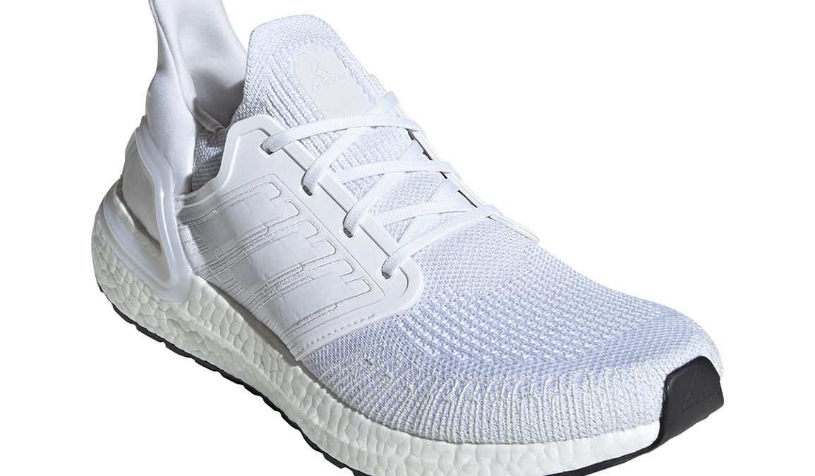 Men's Adidas UltraBOOST 20 Running Shoe - Color: White/White (Regular Width) - Size: 4, White/White, large, image 3