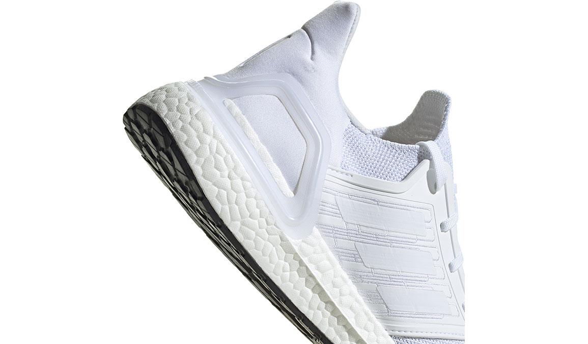 Men's Adidas UltraBOOST 20 Running Shoe - Color: White/White (Regular Width) - Size: 4, White/White, large, image 4