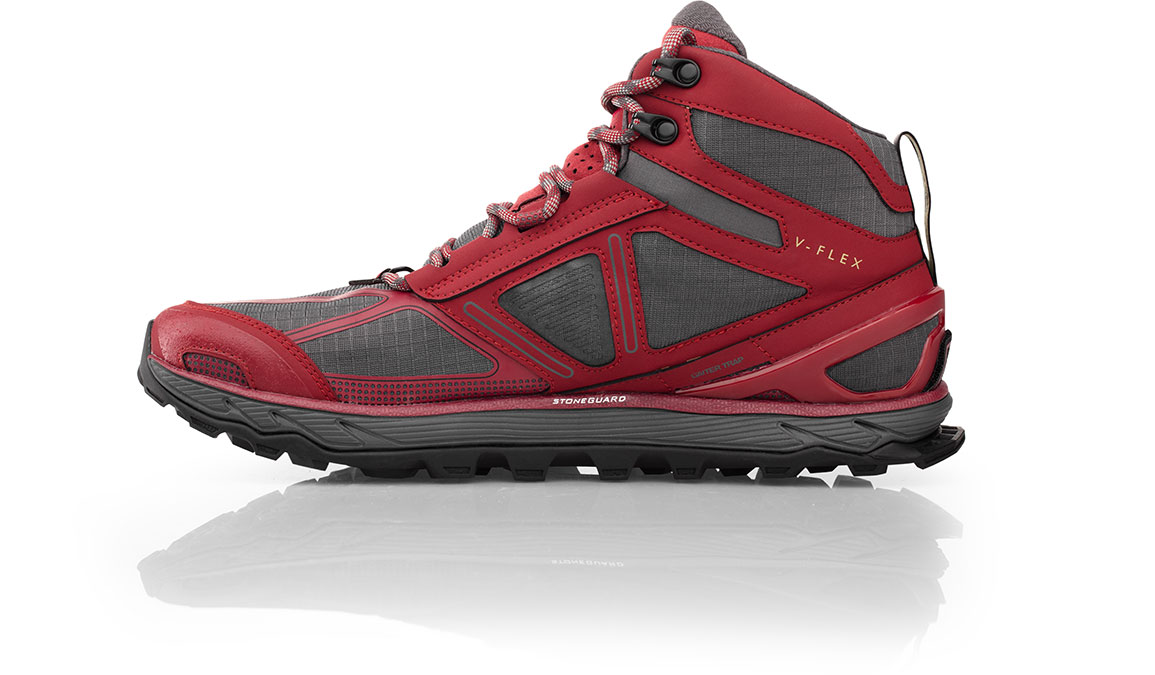 Men's Altra Lone Peak 4 Mid Mesh Trail Running Shoe - Color: Red (Regular Width) - Size: 10, Red, large, image 2