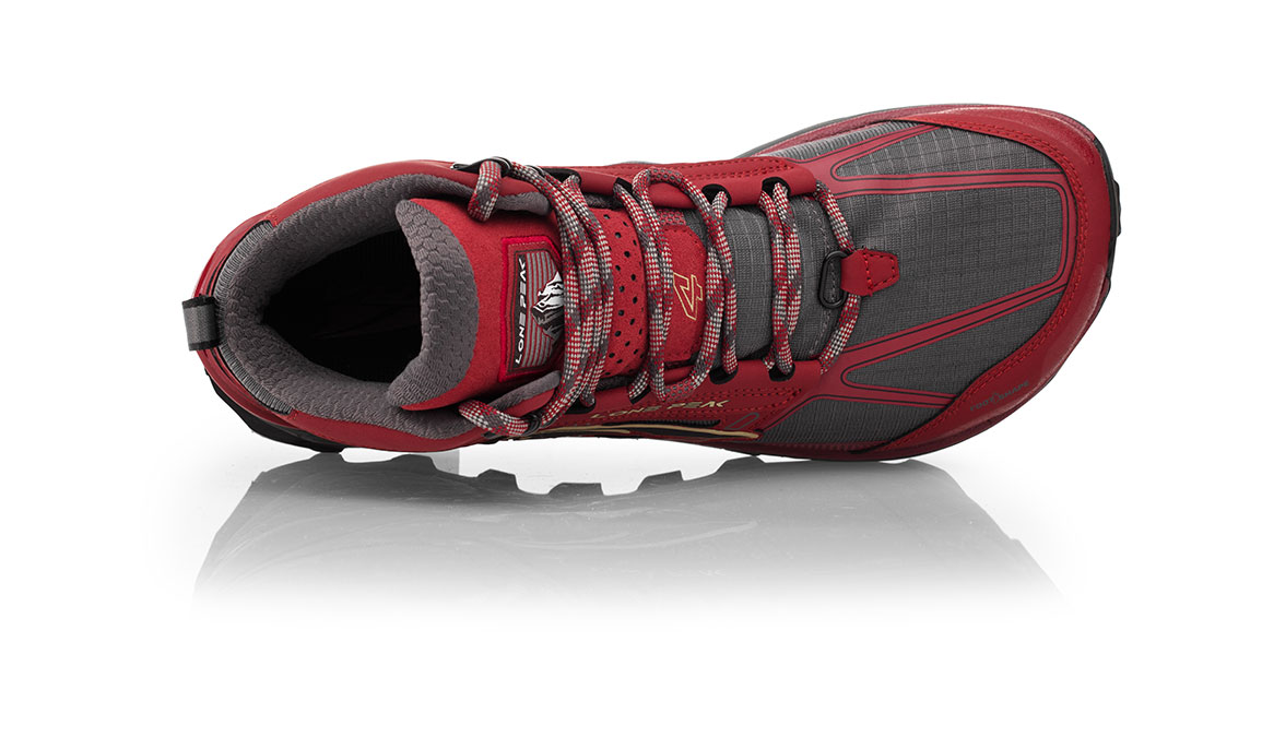 Men's Altra Lone Peak 4 Mid Mesh Trail Running Shoe - Color: Red (Regular Width) - Size: 10, Red, large, image 3
