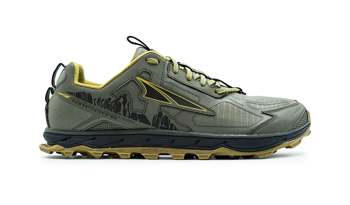 Men's Altra Lone Peak 4.5 Low Trail Running Shoe - Color: Olive/Willow (Regular Width) - Size: 8, Olive/Willow, large, image 1