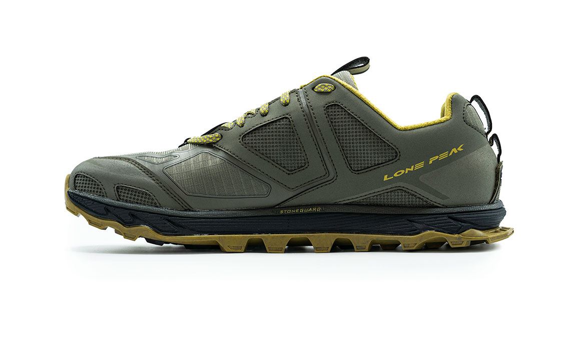 Men's Altra Lone Peak 4.5 Low Trail Running Shoe - Color: Olive/Willow (Regular Width) - Size: 8, Olive/Willow, large, image 4