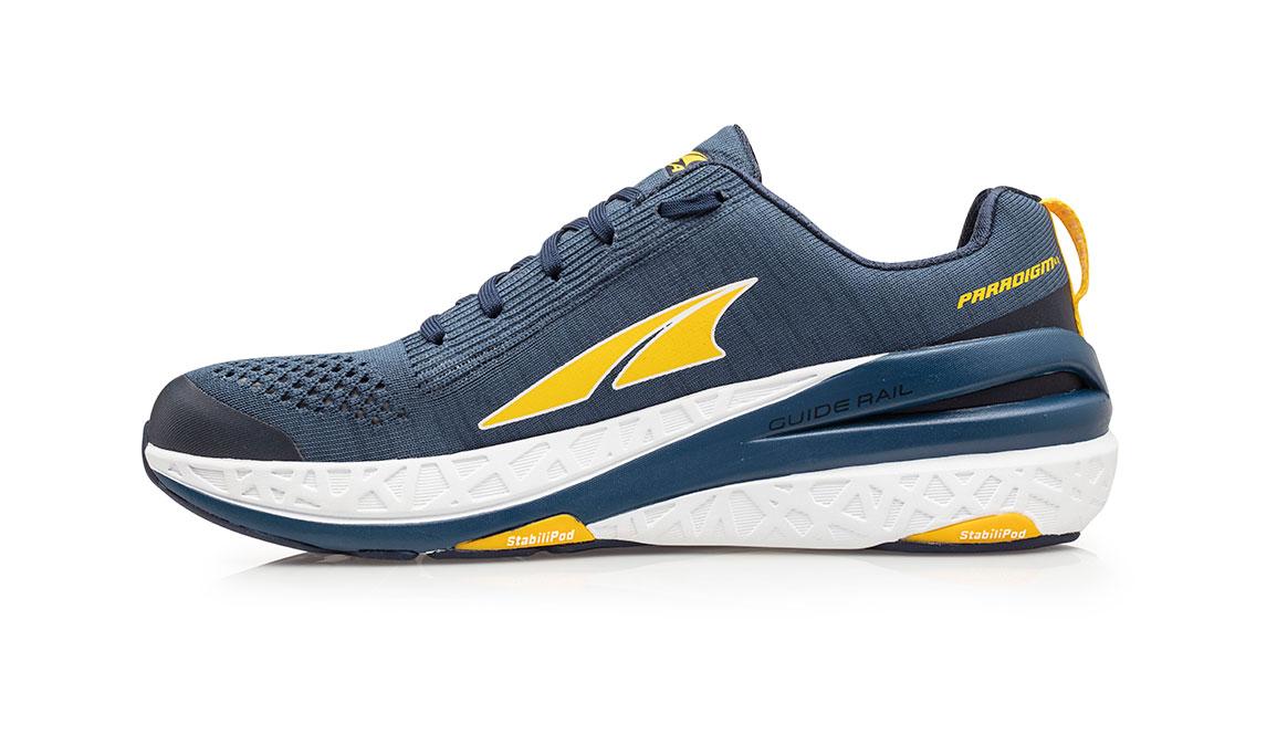 Men's Altra Paradigm 4.5 Running Shoe - Color: Blue/Yellow (Regular Width) - Size: 8.5, Blue/Yellow, large, image 2