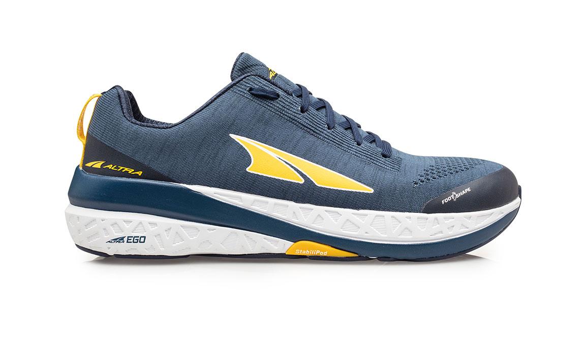 Men's Altra Paradigm 4.5 Running Shoe - Color: Blue/Yellow (Regular Width) - Size: 8.5, Blue/Yellow, large, image 1