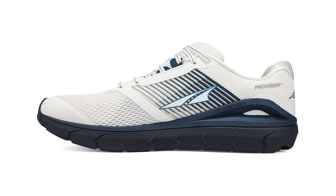 Men's Altra Provision 4 Running Shoe - Color: White/Navy (Regular Width) - Size: 9, White/Navy, large, image 4