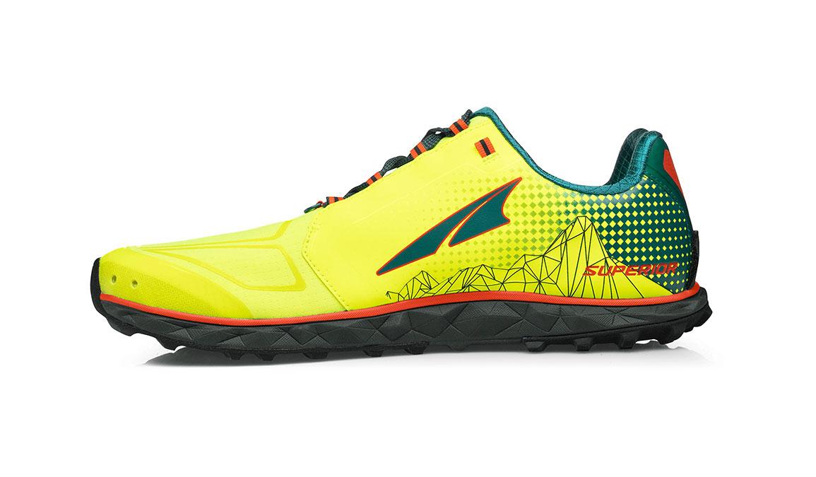 Men's Altra Superior 4 Running Shoe - Color: Neon/Blue (Regular Width) - Size: 8.5, Neon/Blue, large, image 2