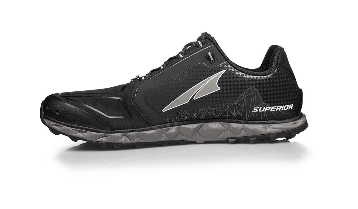 Men's Altra Superior 4.0 Trail Running Shoe - Color: Black (Regular Width) - Size: 10, Black, large, image 2