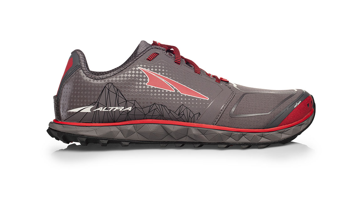 Men's Altra Superior 4.0 Trail Running Shoe - Color: Grey/Red (Regular Width) - Size: 8, Grey/Red, large, image 1
