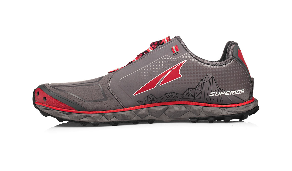 Men's Altra Superior 4.0 Trail Running Shoe - Color: Grey/Red (Regular Width) - Size: 8, Grey/Red, large, image 2
