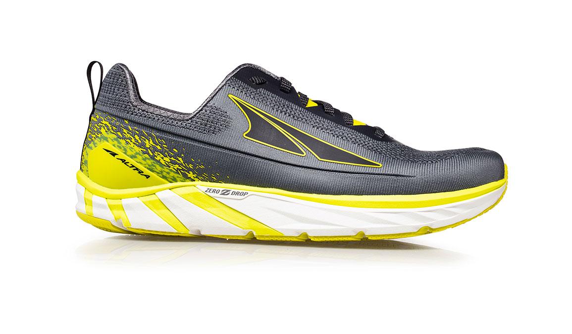 Men's Altra Torin 4 Plush Running Shoe - Color: Grey/Lime (Regular Width) - Size: 8.5, Grey/Lime, large, image 1