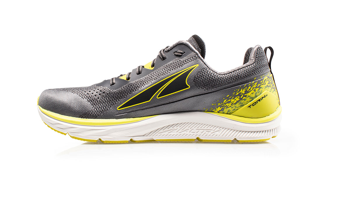 Men's Altra Torin 4 Plush Running Shoe - Color: Grey/Lime (Regular Width) - Size: 8.5, Grey/Lime, large, image 2
