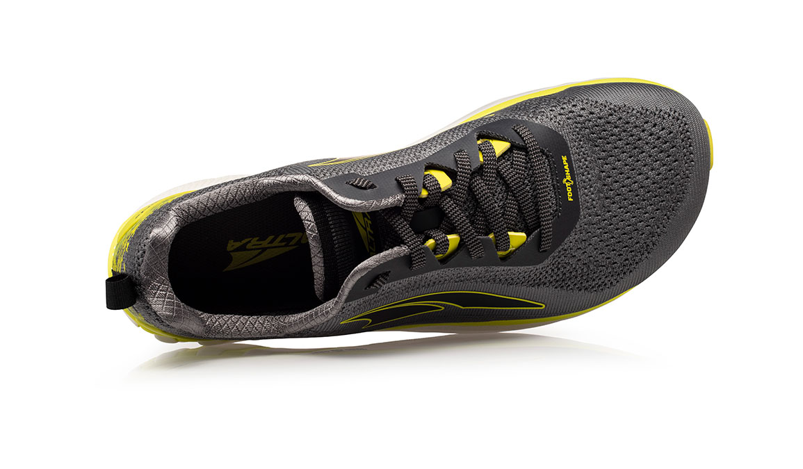 Men's Altra Torin 4 Plush Running Shoe - Color: Grey/Lime (Regular Width) - Size: 8.5, Grey/Lime, large, image 3