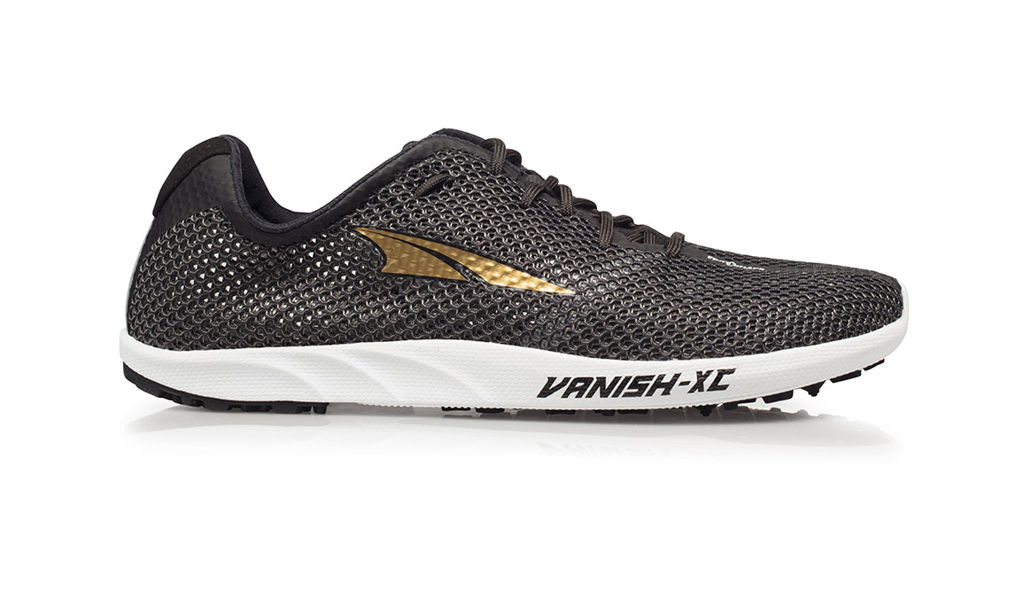 Men's Altra Vanish-XC Cross Country Racer - Color: Black/Gold (Regular Width) - Size: 7, Black/Gold, large, image 1