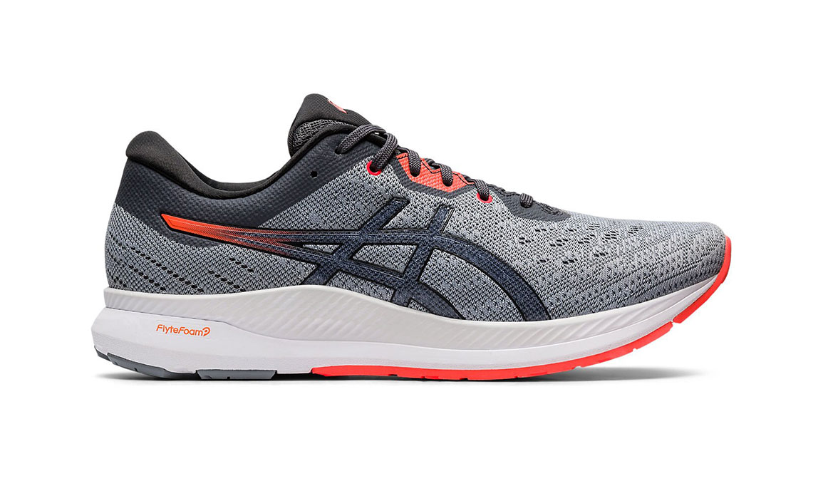Men's Asics EvoRide Running Shoe - Color: Sheet Rock/Flash Coral (Regular Width) - Size: 8.5, Grey/Coral, large, image 1