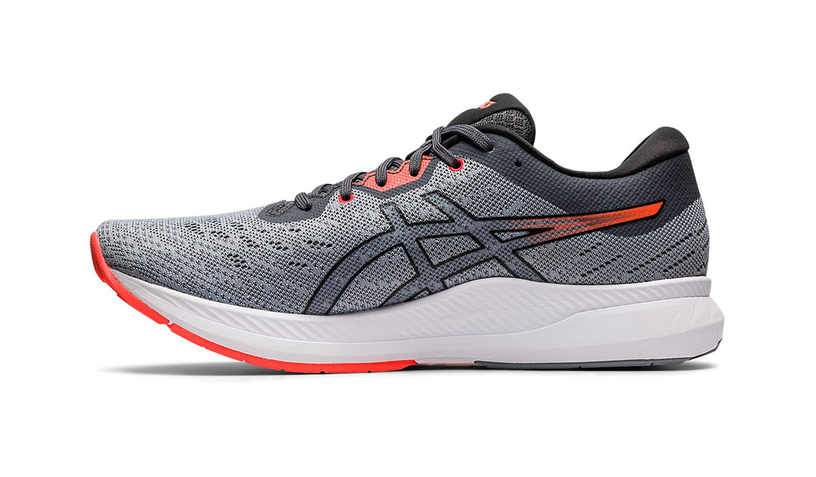 Men's Asics EvoRide Running Shoe - Color: Sheet Rock/Flash Coral (Regular Width) - Size: 8.5, Grey/Coral, large, image 2