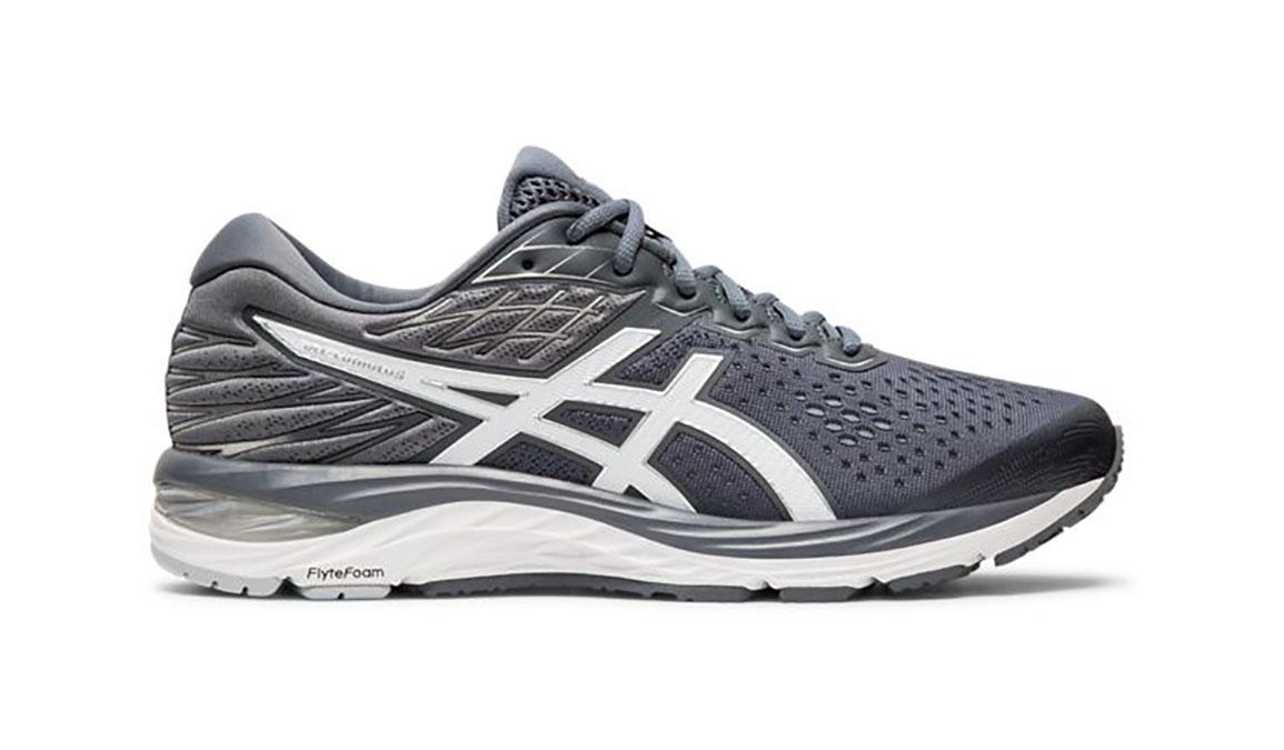 Men's Asics GEL-Cumulus 21 Running Shoe - Color: Metropolis/White (Regular Width) - Size: 6, Grey/White, large, image 1