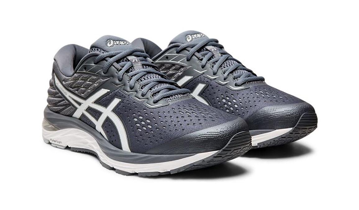 Men's Asics GEL-Cumulus 21 Running Shoe - Color: Metropolis/White (Regular Width) - Size: 6, Grey/White, large, image 7
