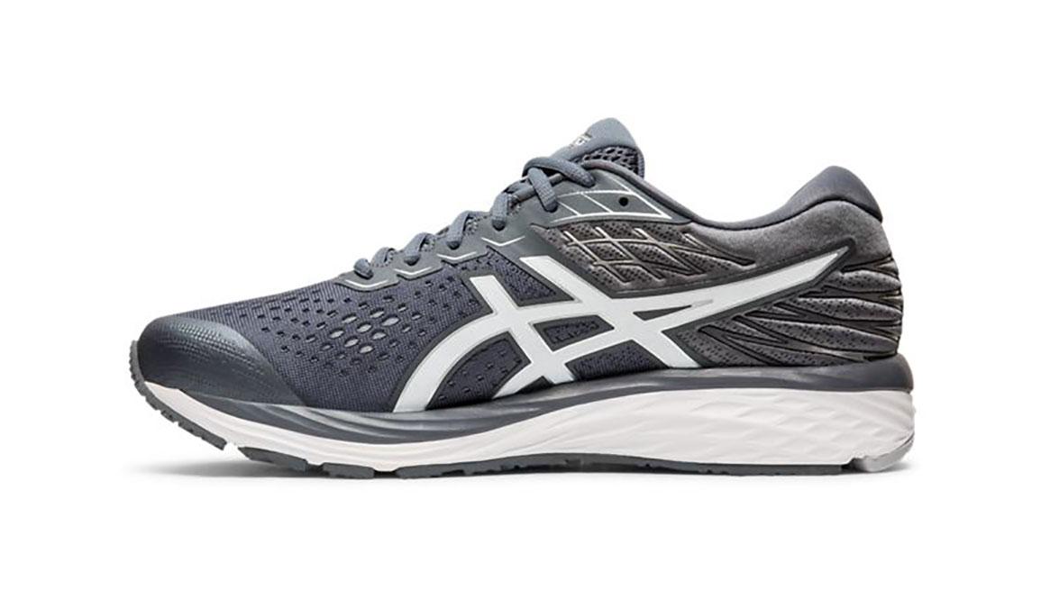 Men's Asics GEL-Cumulus 21 Running Shoe - Color: Metropolis/White (Regular Width) - Size: 6, Grey/White, large, image 2