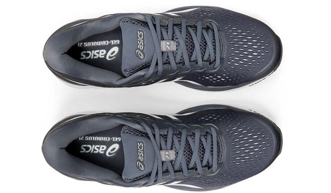 Men's Asics GEL-Cumulus 21 Running Shoe - Color: Metropolis/White (Regular Width) - Size: 6, Grey/White, large, image 6