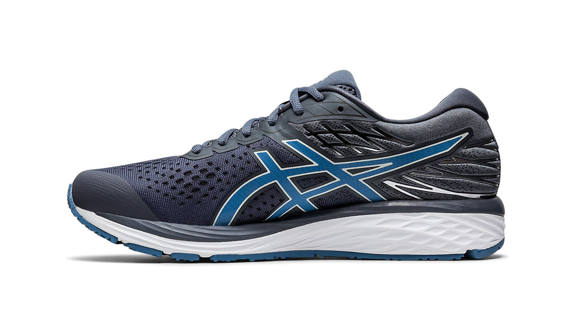 Men's Asics GEL-Cumulus 21 Running Shoe JackRabbit Exclusive - Color: Metropolis/Grey (Regular Width) - Size: 9.5, Blue/Grey, large, image 2